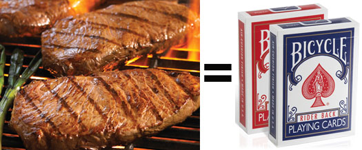 Steaks and Decks of Playing Cards