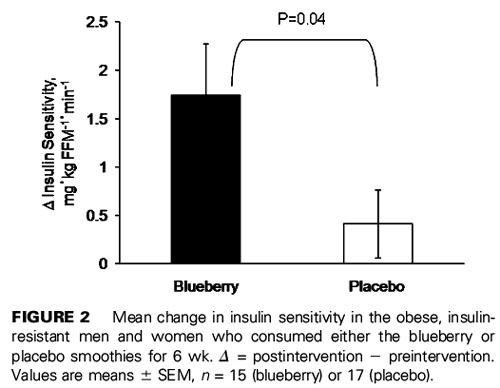 Green Smoothie with Blueberries Improves Insulin Sensitivity