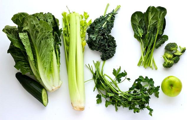 green smoothie veggies