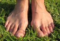 bare feet on ground