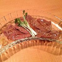beef liver carpaccio