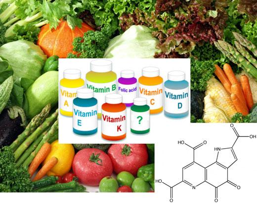 veggies and vitamin bottles