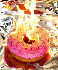 donut on fire