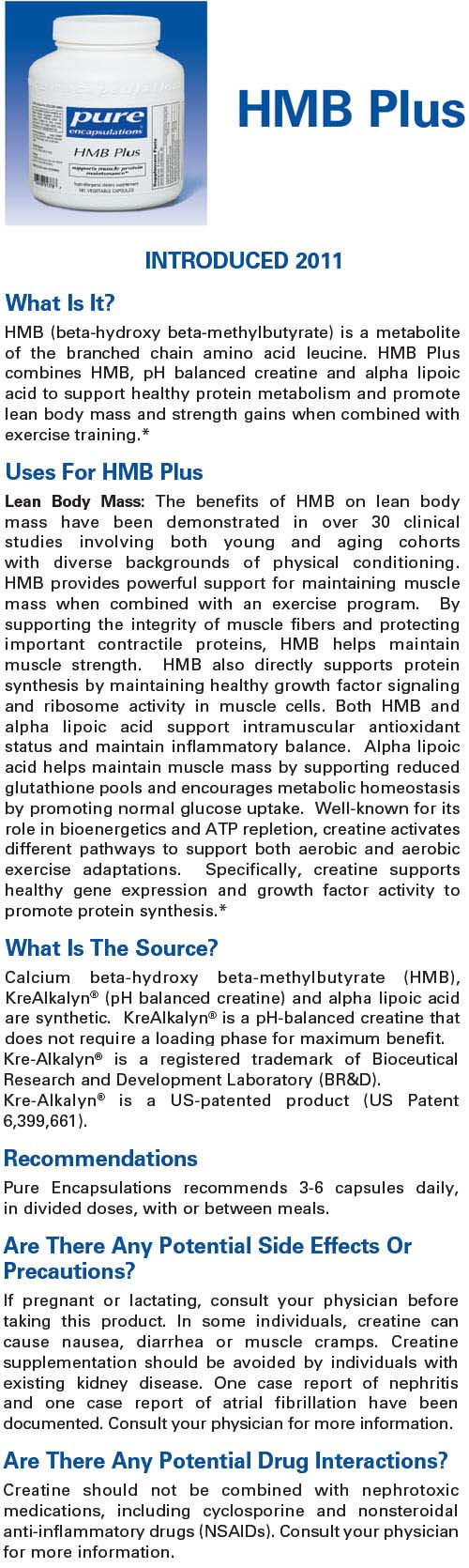 hmb plus pure encapsulations bodybuilding supplements